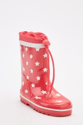 Kids Star Printed Wellies