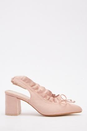 7cd941343a81 Scallop Slingback Block Heels