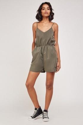 Contrast Panel Playsuit