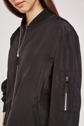 b82fe0fee Zip Up Front Bomber Jacket