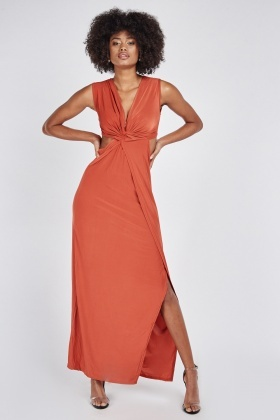 Cut Out Twisted Maxi Dress