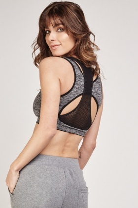 Grey Speckled Sports Bra