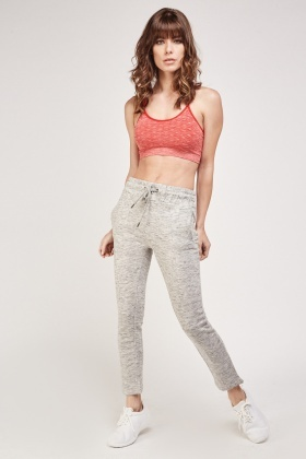 Red Speckled Sports Bra