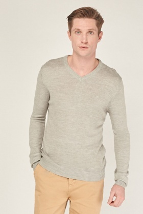 V Neck Men's Casual Sweater
