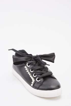 Faux Pearl Detailed Trainers