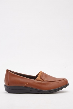 Low Heel Slip-On Shoes