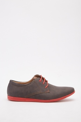 Men's Contrasted Derby Shoes