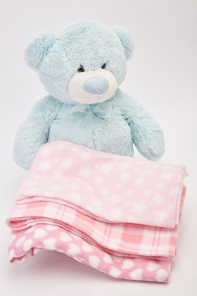 Pack Of 3 Pink Baby Blankets