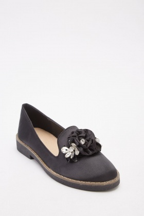 Sateen Encrusted Loafers