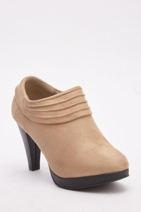 Suedette Textured Ankle Boots