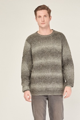 Chunky Grey Cable Knit Jumper