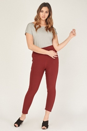 High Waist Detailed Pocket Trousers