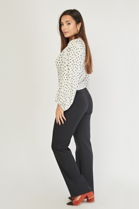Straight Fit Tailored Trousers