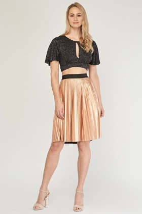 Lurex Keyhole Crop Top