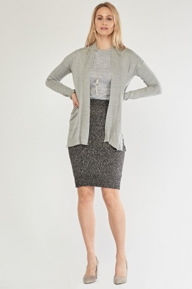 Twin Pocket Front Knit Cardigan