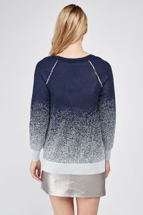 V Neck Metallic Knit Jumper