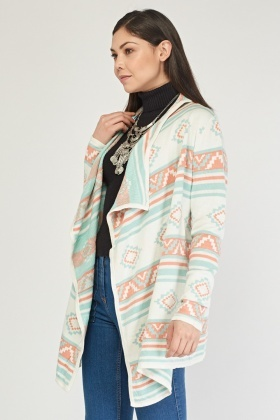 Waterfall Aztec Knit Cardigan