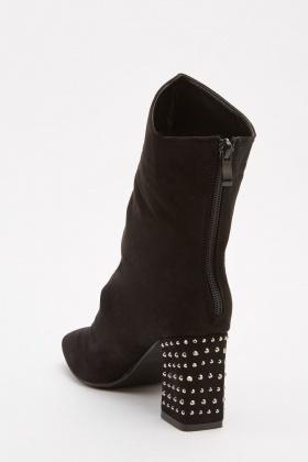 Studded Block Heel Boots - Just £5 af342c542e50