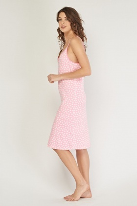 Heart Print Night Dress