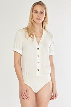 Button Up Short Sleeve Bodysuit