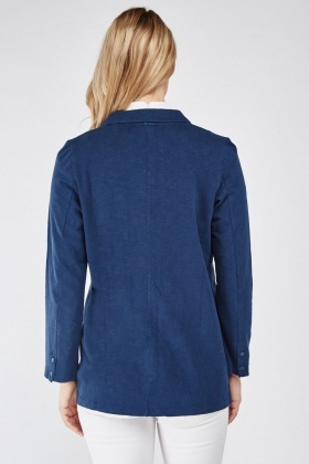 Long Sleeve Navy Casual Blazer