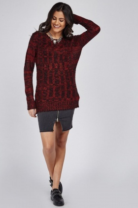 Sheer Loose Knit Jumper