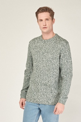 Speckled Knitted Crew Neck Jumper