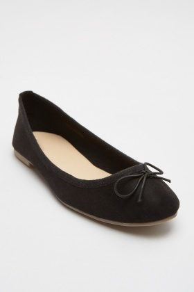 Bow Front Ballerina Shoes