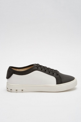 Colour Block Contrast Plimsolls