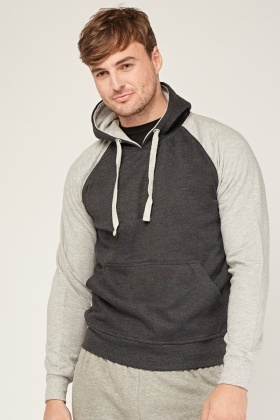 Colour Block Casual Hoodie