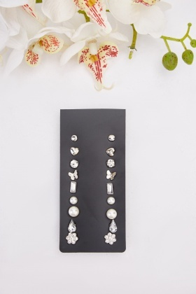 8 Piece Earring Set