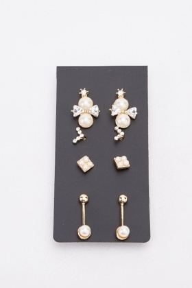 Embellished Earrings Set