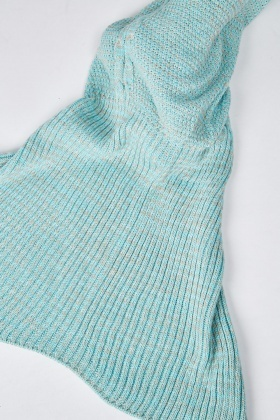 Casual Knitted Mermaid Tail Blanket