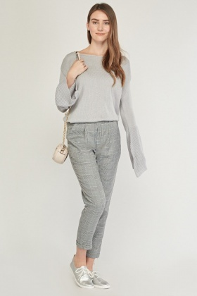 Flared Rib Sleeve Knit Jumper