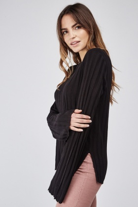 Long Sleeve Rib Knit Top