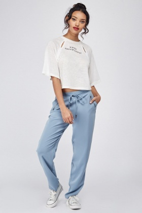 Open Pocket Straight Fit Trousers