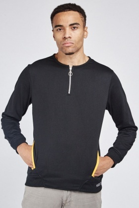 Zip Up Front Basic Pullover