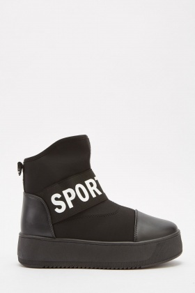 Contrast Platform High Top Trainers