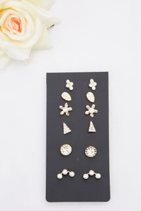Embellished Encrusted Earring Set