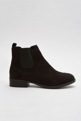 Suedette Chelsea Ankle Boots - Just $6