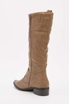 Textured Knee High Boots
