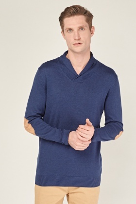 Elbow Panel Knitted Jumper