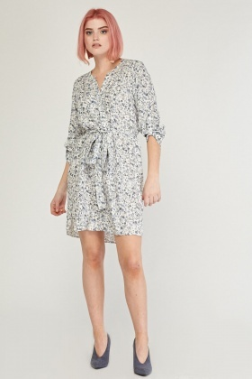 Ditsy Floral Print Tunic Dress