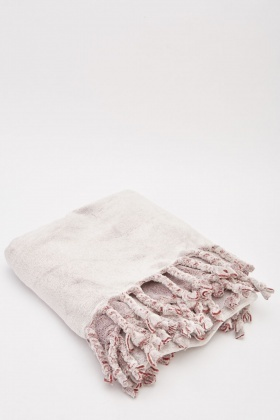 Soft Fluffy Fringed Blanket