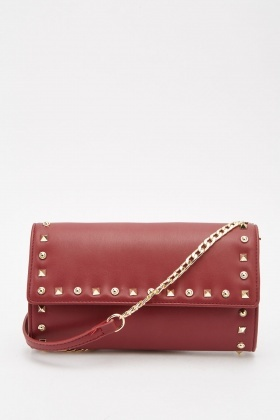 Studded Mini Clutch Bag