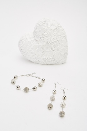 Charm Bracelet And Earrings Set