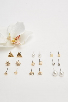 Set Of Stud Earrings Set