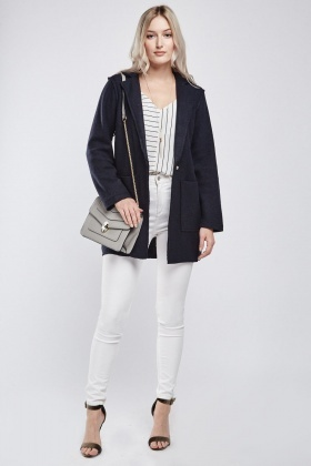 Twin Front Pocket Casual Jacket