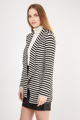 Waterfall Striped Long Cardigan