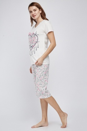 Novelty Printed Pyjama Set